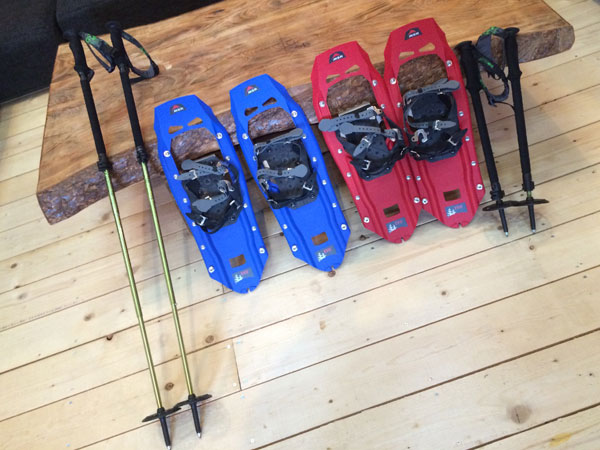 Snowshoe & pole set